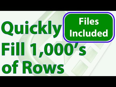 Instantly Fill Thousands of Rows with Numbers, Dates, or Formulas in Excel