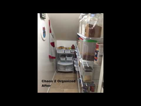 Chaos 2 Organized: Creating a Pantry Under the Staircase