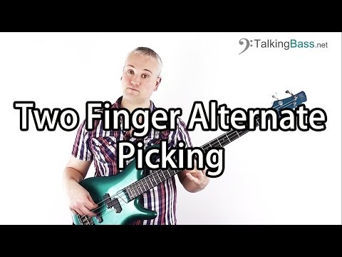 Improve your Two Finger Alternate Picking on Bass Guitar - Intermediate