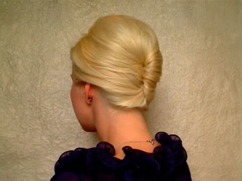 French twist hairstyle tutorial for short, medium long hair Prom wedding updo