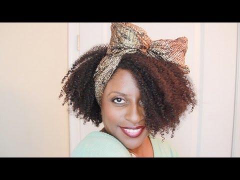 ||44.|| 80s Hair: Scarf Bow on