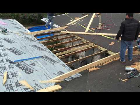 Rafter framing for a flat roof