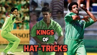 3 Sensational Wasim and Waqar Hat-Tricks in ODI Cricket   KINGS OF SWING - KINGS OF HAT-TRICKS!!
