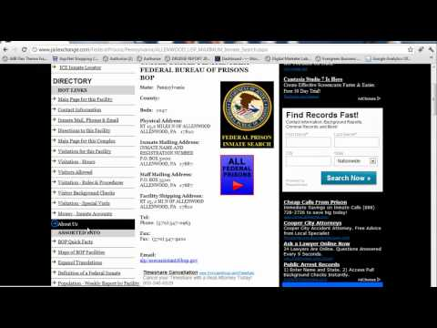 Federal Inmate Search - BOP Inmates