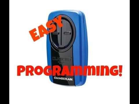 How to program a Chamberlain Klik3u Universal Garage Door Opener Remote