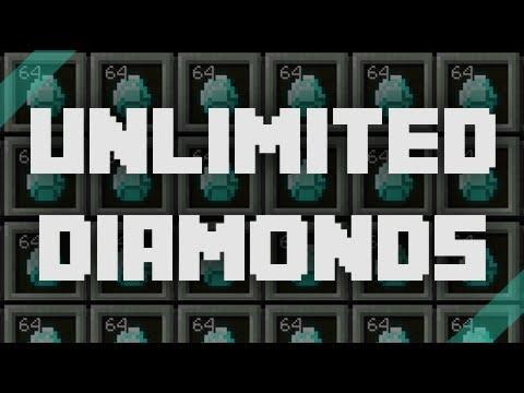Unlimited Diamonds Glitch Part 1 - Minecraft PE 0.8.1