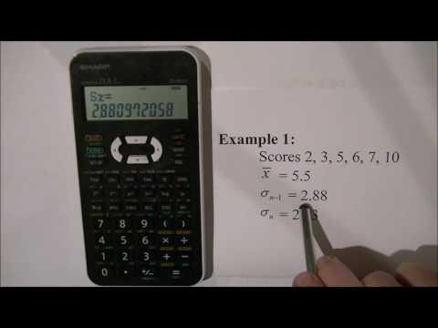 Statistics on the Sharp EL-531X