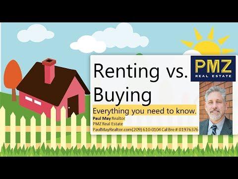 PMZ REALTOR - BUY vs RENT - Everything you need to know. Stockton Real Estate -