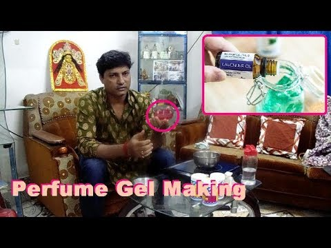 How to make perfume air freshener gel in hindi and english.