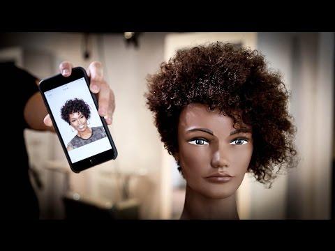 Curly Short Asymmetrical Haircut Tutorial | MATT BECK VLOG 71