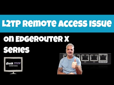 L2TP Issue With EdgeRouter X Series