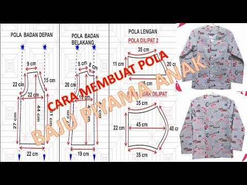 Cara membuat pola dan menjahit baju tidur anak laki laki BAGIAN 1