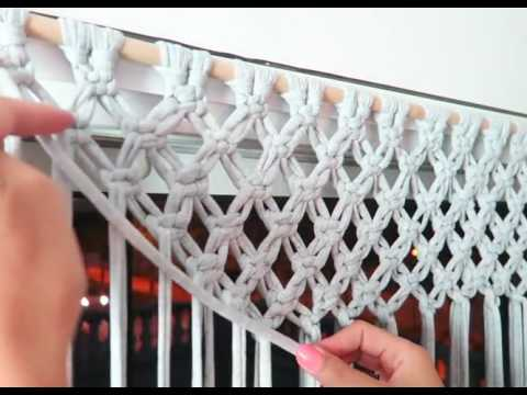 Diy how to make a macrame curtain with trample  By: STEFFIDO