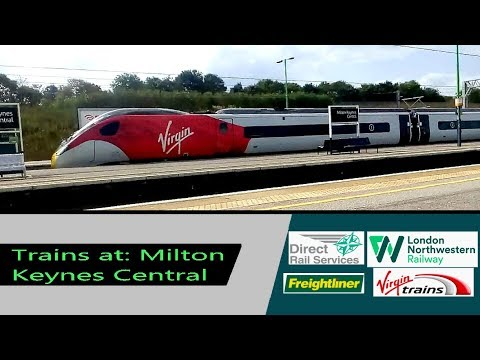 Trains at: Milton Keynes Central - WCML - 31/8/18 - inc. new livery 390107 & 390114