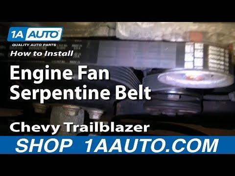 How to Install Replace Engine Fan Serpentine Belt Chevy Trailblazer GMC Envoy 4.2L 1AAuto.com