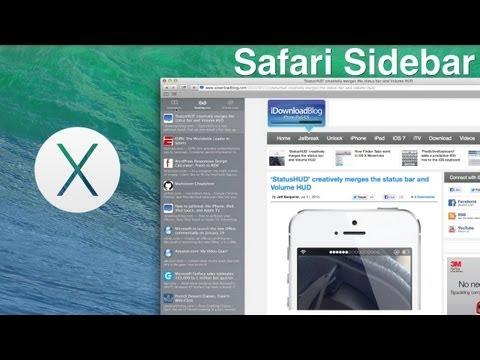 OS X Mavericks: Safari Sidebar