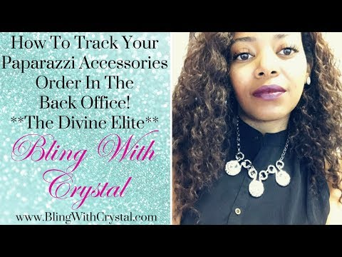 How To Track Your Paparazzi Order In The Back Office **The Divine Elite Team**