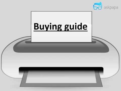 Printer Buying Guide Shortest Video 2015