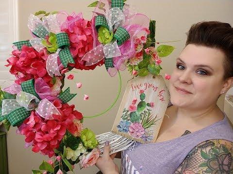 Summer Cactus Sign Wreath