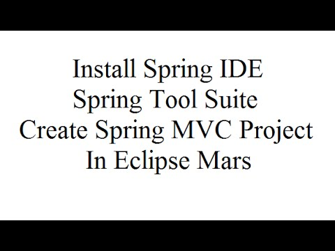 Install Spring IDE and the Spring Tool Suite, Create Spring MVC Project in Eclipse Mars