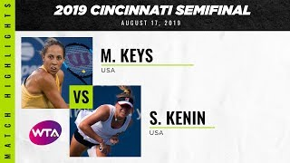 Madison Keys vs. Sofia Kenin    2019 Western & Southern Open Semifinal   WTA Highlights
