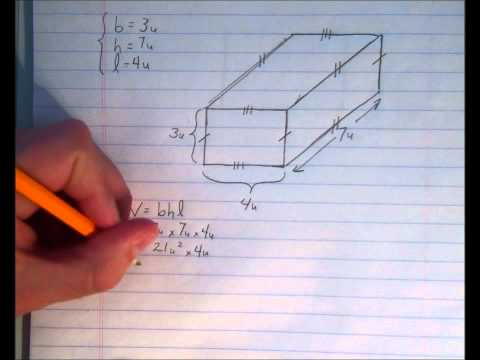 3D Measurement (Surface Area and Volume of Rectangular Prisms)