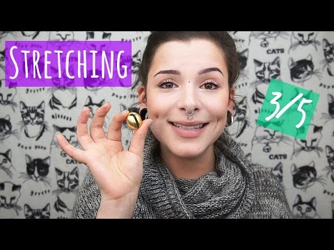 Ear Stretching (3 of 5) || How to use ear weights!