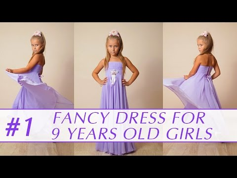 How to sew a dress for 9 years old girl? DIY tutorial 1