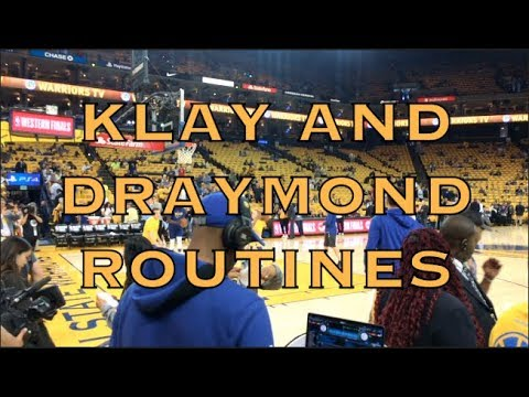 Klay and Draymond pregame routines from Oracle Arena, pregame 2018 WCF G6