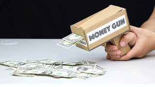 How to Make Amazing MONEY GUN from Cardboard