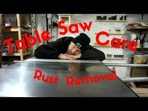 Table saw top maintenance
