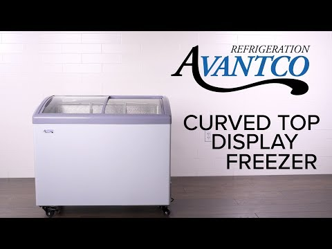 Avantco Curved Top Display Freezer