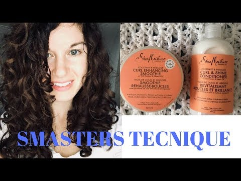 How to style naturally curly hair: Smasters Technique