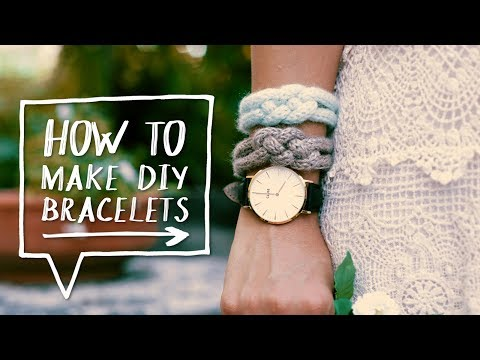 DIY KNIT BRACELETS | How to Make a DIY Knitted Knot Bracelet Tutorial! ✨Alejandra's Styles