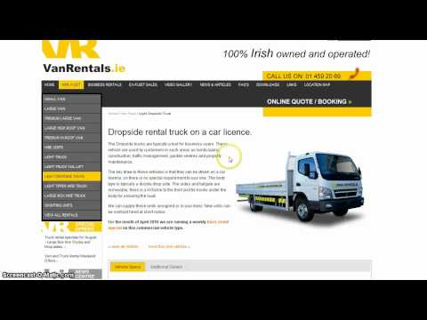 Driving a rental van or truck on a car licence in Ireland