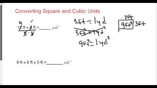 Converting Square And Cubic Ft To Yards