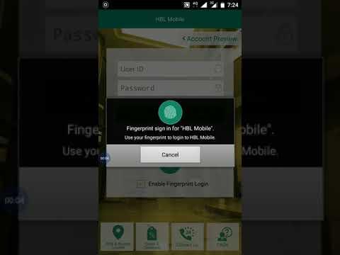 login fingerprint hbl bank