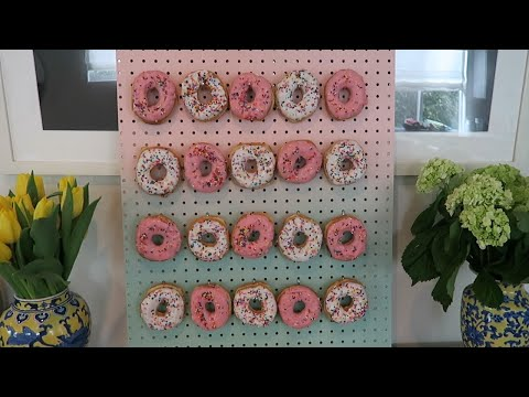 Brunch Made Simple: Behold the Donut Wall!   Erica in the House
