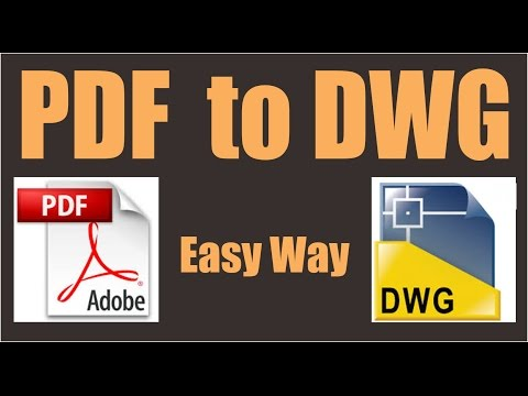 Convert pdf to dwg autocad 2017 without any other software