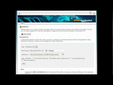How to create a redirect link in cpanel