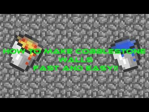 HOW TO MAKE COBBLESTONE WALLS FAST AND EASY!   {FACTIONS!}