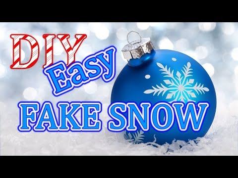 How to Make Fake SNOW in ONE MINUTE Christmas Crafts for Kids christmas craft ideas artificial decor