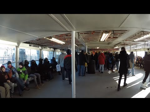 ⁴ᴷ Liberty Island, NYC to Ellis Island Full Statue Cruises Ferry Ride