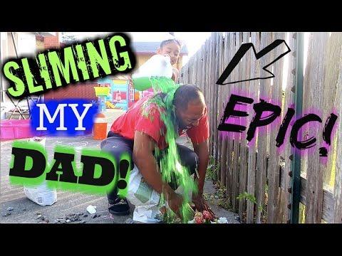 SLIME PRANK ON MY DAD!!!! (EPIC PRANK)