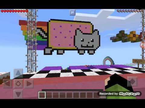 Minecraft PE Nyan Cat Parkour Map w/ Electrico