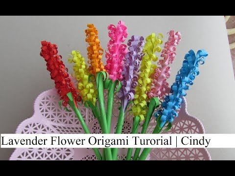 Lavender Paper flowers: How to & Origami Craft Tutorial | Cindy DIY
