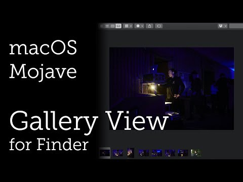 Gallery View for Finder in macOS Mojave