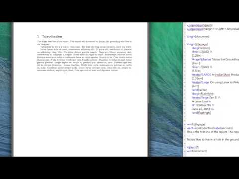 Latex Tutorial 2 of 11: Sections, Margins, Page Numbers