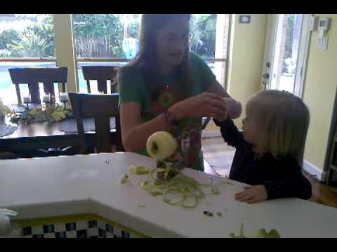 Peeling apples for pie