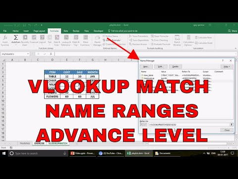 Learn Excel -Video 477- How to use VLOOKUP MATCH with Name Ranges